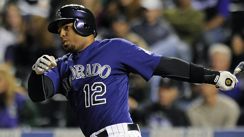Wilin Rosario made his Major League debut Sept. 6 against the Diamondbacks.